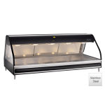"Alto Shaam ED2-72-BLK 72"" Full-Service Countertop Heated Display Case - (5) Pan Capacity, 120v/208 240v/1ph"