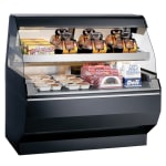 "Alto Shaam ED2SYS-48/P-BLK 2 Tier Display Case w/ European Style Base, Self, 48"", Black"