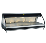 "Alto Shaam ED2SYS-72-BLK Full Service Heat Display Case, European Style Base, 72"", Black"
