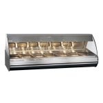 "Alto Shaam HN2-96/PL-BLK 96"" Self-Service Countertop Heated Display Case - (7) Pan Capacity, 120v/208 240v/1ph"