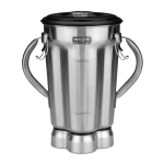 Waring CAC72 1 gal Stainless Blender Container for CB10B w/ 2 Handles & Clear Lid