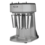 Waring WDM360 Counter Mounted Drink Mixer w/ 3 Spindle & 3 Speed Motor, Stainless Cups, 120V
