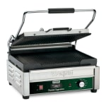 Waring WPG250TB Commercial Panini Press w/ Cast Iron Grooved Plates, 208v/1ph