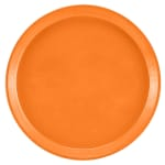 "Cambro 1000222 10"" Round Serving Camtray - Orange Pizzazz"