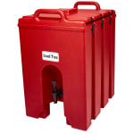 Cambro 1000LCD158 10 gal Camtainer Beverage Carrier - Insulated, Hot Red