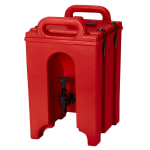 Cambro 100LCD158 1-1/2-gal Camtainer Beverage Carrier - Insulated, Hot Red