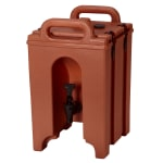 Cambro 100LCD402 1-1/2-gal Camtainer Beverage Carrier - Insulated, Brick Red