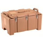 "Cambro 100MPC157 Camcarriers® Insulated Food Pan Carrier - 18x26.75x15"" Coffee Beige"