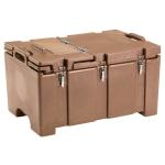 "Cambro 100MPCHL157 Camcarrier® Insulated Food Pan Carrier - Hinged Lid, 18x26.75x15"" Coffee Beige"