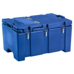 Cambro 100MPCHL186 Camcarriers® Insulated Food Carrier - 40 qt w/ (1) Pan Capacity, Hinged Lid, Navy Blue