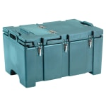 "Cambro 100MPCHL401 Camcarrier® Insulated Food Pan Carrier - Hinged Lid, 18x26.75x15"" Slate Blue"