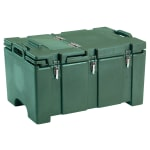 "Cambro 100MPCHL519 Camcarrier® Insulated Food Pan Carrier - Hinged Lid, 18x26.75x15"" Green"