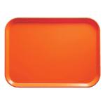 """Cambro 1015220 Fiberglass Camtray® Cafeteria Tray Insert - 15""""L x 10.1""""W, Citrus Orange"""