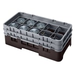 Cambro 10HS434167 Camrack Glass Rack - (2)Extenders, 10-Compartments, Brown