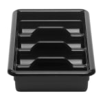 Cambro 1120CBR110 Cambox Cutlery Box - 4 Compartment, Hi-Impact Plastic, Black