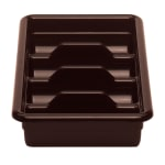 Cambro 1120CBR131 Cambox Cutlery Box - 4 Compartment, Hi-Impact Plastic, Dark Brown