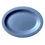"Cambro 120CWP401 Oval Camwear Platter - 12x9"" Slate Blue"