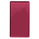 """Cambro 1220D522 Rectangular Dietary Tray - For Patient Feeding, 12x20"""" Burgundy Wine"""