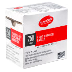 "Cambro 1252SLB250 StoreSafe Food Rotation Labels - 1-1/4x2"" (250 Per Roll)"