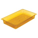 "Cambro 13CLRHP150 H-Pan Colander - Full Size, 3""D, Amber"
