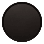 "Cambro 1400CT110 14"" Round Camtread Serving Tray - Black Satin"