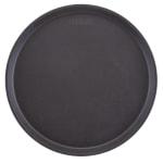 """Cambro 1400TL110 13.98"""" Round Treadlite Tray, Non-Skid, Black"""