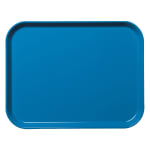 "Cambro 1418CL142 Rectangular Camlite Tray - 14x18"" Blue"