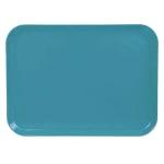 """Cambro 1418CL674 Rectangular Camlite Tray - 14x18"""" Steel Blue"""