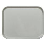 """Cambro 1418CL676 Rectangular Camlite Tray - 14x18"""" Steel White"""