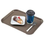 "Cambro 1418FF104 Rectangular Fast Food Tray - 13-13/16x17-3/4"" Desert Tan"
