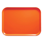 "Cambro 1520220 Fiberglass Camtray® Cafeteria Tray - 20.25""L x 15""W, Citrus Orange"