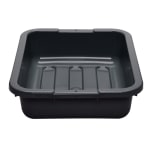 "Cambro 1520CBP110 Cambox Bus Box - 15-5/16x20x5"" Hi-Gloss, Black"