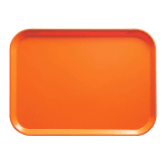"Cambro 1622220 Rectangular Camtray - 16x22"" Citrus Orange"
