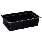 "Cambro 16HP110 H-Pan Food Pan - Full Size, 6""D, Non-Stick, Black"