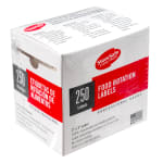 "Cambro 23SLB6250 StoreSafe Food Rotation Labels - 2x3"" (250 Per Roll) 6-Pk"