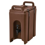 Cambro 250LCD131 2 1/2 gal Camtainer Beverage Carrier - Insulated, Dark Brown