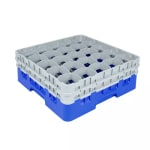 Cambro 25S534168 Camrack Glass Rack - (2)Extenders, 25-Compartment, Low Profile, Blue