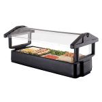 Cambro 5FBRTT110 Tabletop Salad Bar - (4) Pan Capacity, Ice Pan, Sneeze Guard, Black