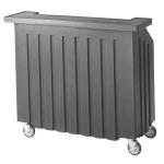 """Cambro BAR540191 54"""" Cambar Portable Bar - 100 lb Ice Sink, Speed Rail, Granite Gray"""