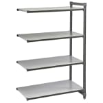 "Cambro CBA184284S4580 Polymer Solid Add-On Shelf Kit - 42""W x 18""D x 84""H"