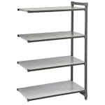 "Cambro CBA214264S4580 Polymer Solid Add-On Shelf Kit - 42""W x 21""D x 64""H"
