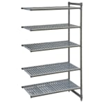"Cambro CBA244284V5580 Polymer Louvered Add-On Shelving Unit - 42""L x 24""W x 84""H"