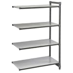 """Cambro CBA244872S4580 Polymer Solid Add-On Shelving Unit - 48""""L x 24""""W x 72""""H"""