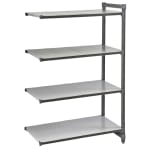 """Cambro CBA244884S4580 Polymer Solid Add-On Shelving Unit - 48""""L x 24""""W x 84""""H"""