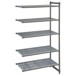 "Cambro CBA244884V5580 Polymer Louvered Add-On Shelving Unit - 48""L x 24""W x 84""H"