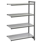 "Cambro CBA245464S4580 Polymer Solid Add-On Shelving Unit - 54""L x 24""W x 64""H"