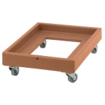 Cambro CD2028157 Camdolly® for Milk Crates w/ 350-lb Capacity, Coffee Beige