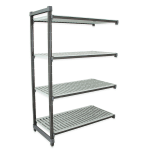"""Cambro EA214872 580 Polymer Solid Add-On Shelving Unit - 48""""L x 21""""W x 72""""H"""