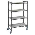 "Cambro EMU184270V4580 Polymer Louvered Shelving Unit - 42""L x 18""W x 70""H"