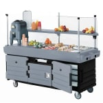 "Cambro KVC854426 85.13"" CamKiosk® Food Cart w/ (4) Full-Size Food Pan Capacity, Black/Gray"